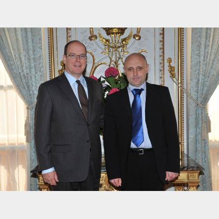 Remise des lettres de créance de S.E. M. Almir SAHOVIC, Ambassadeur Extraordinaire et Plénipotentiaire de Bosnie-Herzégovine auprès de la Principauté de Monaco
