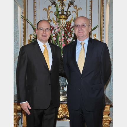 Remise des lettres de créance de S.E. M. David Alexander RITCHIE, Ambassadeur Extraordinaire et Plénipotentiaire d'Australie auprès de la Principauté de Monaco
