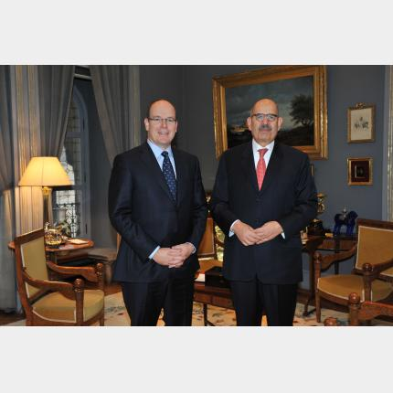 Meeting between HSH Prince Albert II and Dr Mohamed El Baradei