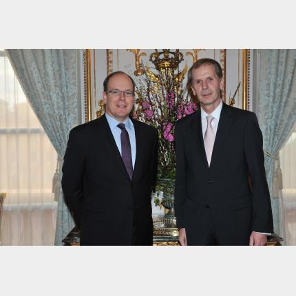 Presentation of Credentials by H.E. Mr Reinhard SCHÄFERS, Ambassador Extraordinary and Plenipotentiary of The Federal Republic of Germany to the Principality of Monaco