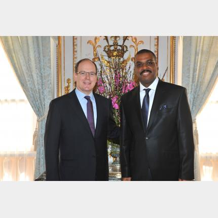 Presentation of Credentials by H.E. Mr Rogelio SANCHEZ LEVIS, Ambassador Extraordinary and Plenipotentiary of The Cuba Republic to the Principality of Monaco