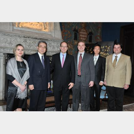Monaco – ITER Partnership: HSH Prince Albert II met with the first five postdoctoral fellows