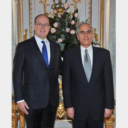 Presentation of Credentials by H.E. Mr Dimitrios PARASKEVOPOULOS, Ambassador Extraordinary and Plenipotentiary of the Hellenic Republic to the Principality of Monaco
