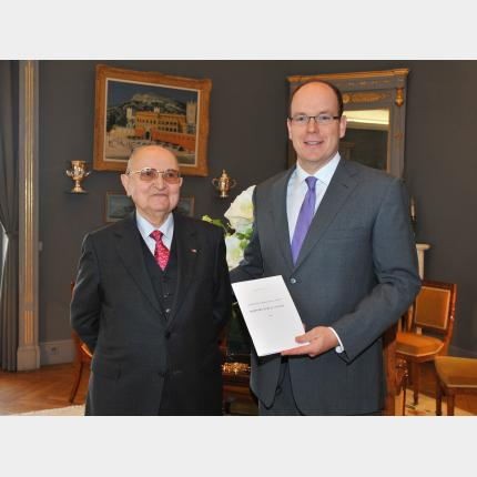 HSH Prince Albert II has an audience with President James Charrier