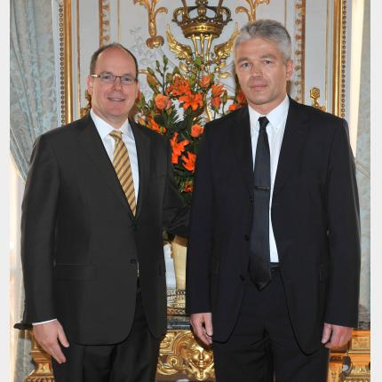 Presentation of Credentials by H.E. Mr Jänis KÄRKLINS, Ambassador Extraordinary and Plenipotentiary of The Latvian Republic to the Principality of Monaco