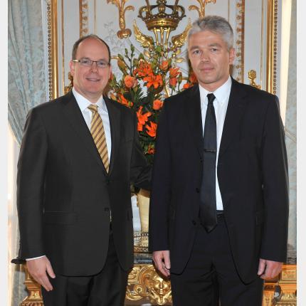 Presentation of Credentials by H.E. Mr Jänis KÄRKLINS, Ambassador Extraordinary and Plenipotentiary of The Latvian Republic to the Principality of Monaco