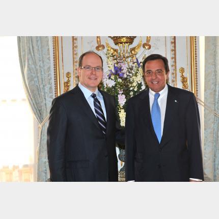 Presentation of Credentials by H.E. Mr Luis Maria URETA SAENZ PENA, Ambassador Extraordinary and Plenipotentiary of The Republic of Argentina to the Principality of Monaco