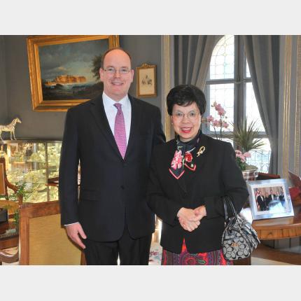 SAS le Prince Albert II a reçu en audience le Docteur Margaret CHAN