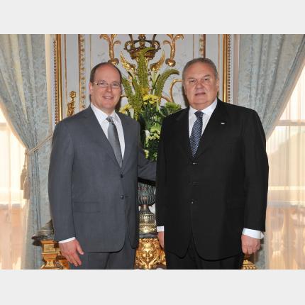 Remise des lettres de créance de S.E. M. Jorge Alberto LEPRA LOIODICE, Ambassadeur Extraordinaire et Plénipotentiaire de la République Orientale de l'Uruguay auprès de la Principauté de Monaco