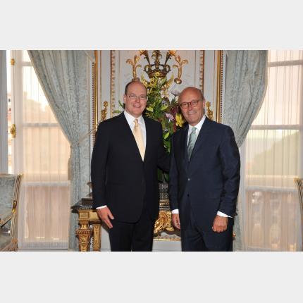 Remise des lettres de créance de S.E. M. Gunnar  LUND, Ambassadeur Extraordinaire et Plénipotentiaire de Suède auprès de la Principauté de Monaco