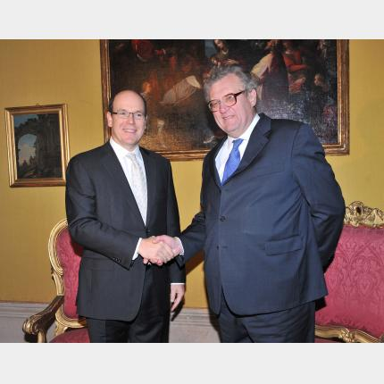 Trip to Rome by HSH Prince Albert II of Monaco
