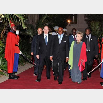 First day of the official visit to Senegal of HSH Prince Albert II