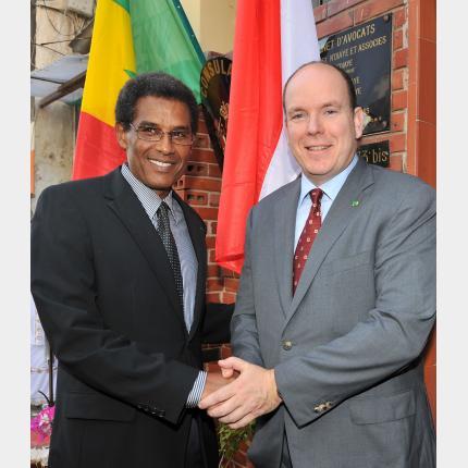 Deuxième jour de la visite officielle au Sénégal de S.A.S. le Prince Albert II