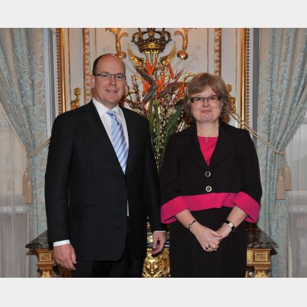 Presentation of credentials by HE Pilvi-Sisko Vierros-Villeneuve, Ambassadress Extraordinary and Plenipotentiary of Finland to the Principality of Monaco