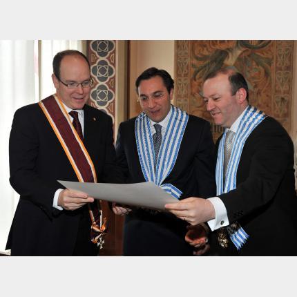 Visit by Prince Albert II to San Marino