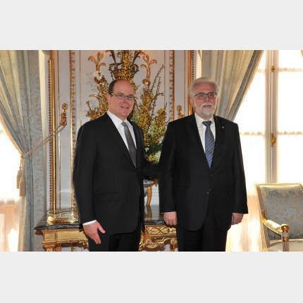 Remise des lettres de créance de S.E. M. Constantin CHALASTANIS, Ambassadeur Extraordinaire et Plénipotentiaire de la République Hellénique auprès de la Principauté de Monaco