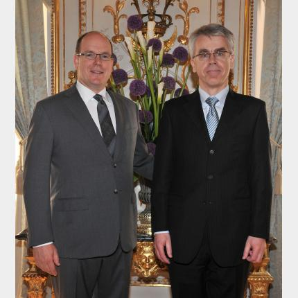 Remise des lettres de créance de S.E. Monsieur Margus RAVA