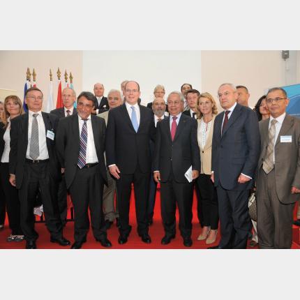 S.A.S. le Prince a participé à la Conférence internationale sur « la prévention des risques majeurs environnementaux en Méditerranée : routes et territoires »