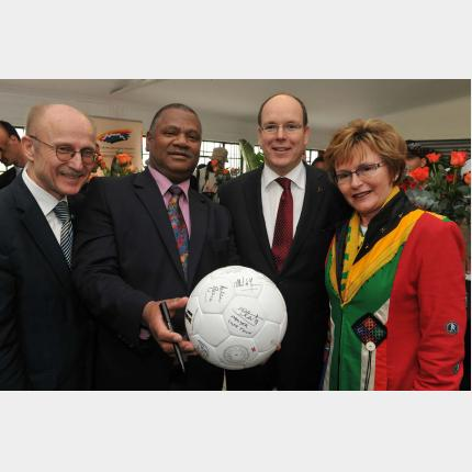 inauguration du Centre Sportif de Gugulethu à Cape Town