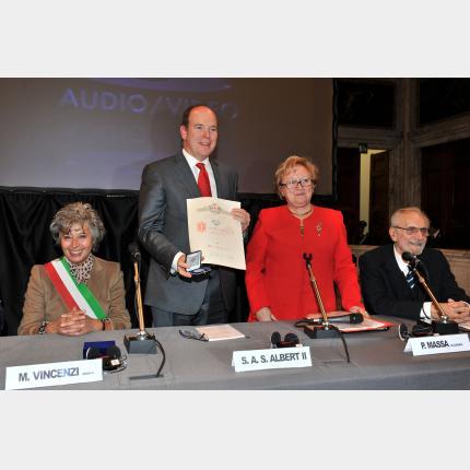 Déplacement de S.A.S. le Prince Albert II à Gênes 19 octobre 2010
