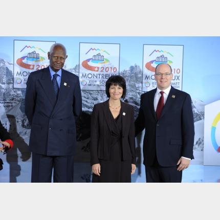 Participation of HSH Prince Albert II in the 13th Francophonie Summit in Montreux, Switzerland