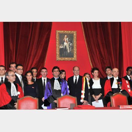 S.A.S le Prince a reçu les insignes de Docteur Honoris Causa à l'Institut Portalis d'Aix en Provence