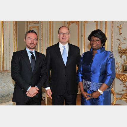 Presentation of credentials by H.E. Mrs Félicité ONGOUORI-NGOUBILI, Ambassador Extraordinary and Plenipotentiary of the Republic of Gabon to the Principality of Monaco