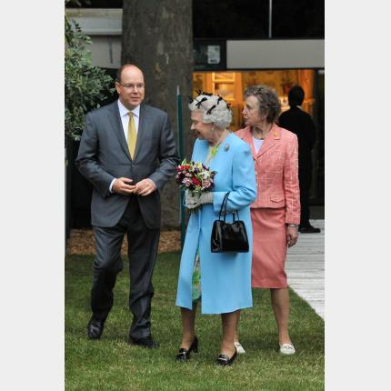 Presence of H.S.H. Prince Albert II at the inauguration of The Chelsea Flower Show in London