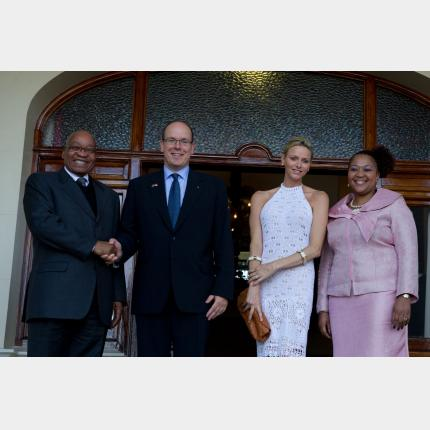 T.S.H. Prince Albert II and Princess Charlene in South Africa