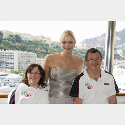 Participation de S.A.S la Princesse Charlène à la Journée Eunice Kennedy Shriver pour Special Olympics