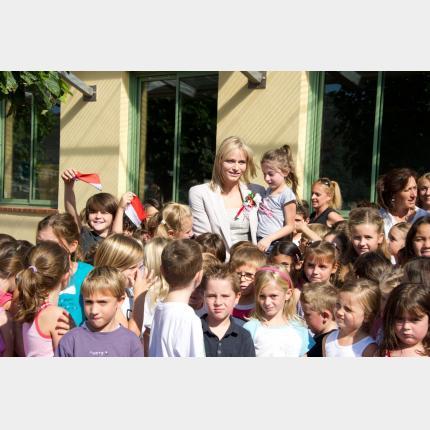 Célébration de la Saint-Michel à la Turbie en présence de S.A.S. la Princesse Charlène