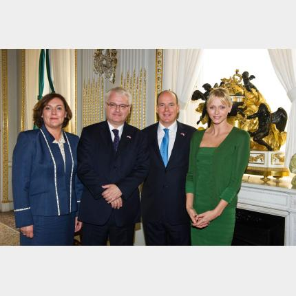 Official Visit to the Principality by the President of the Republic of Croatia, H.E. Mr Ivo...
