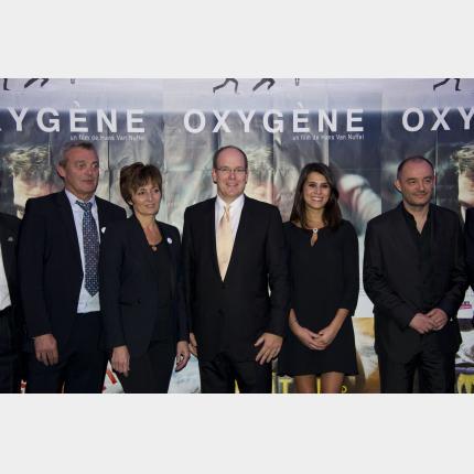 Projection du Film Oxygène en présence de S.A.S le Prince