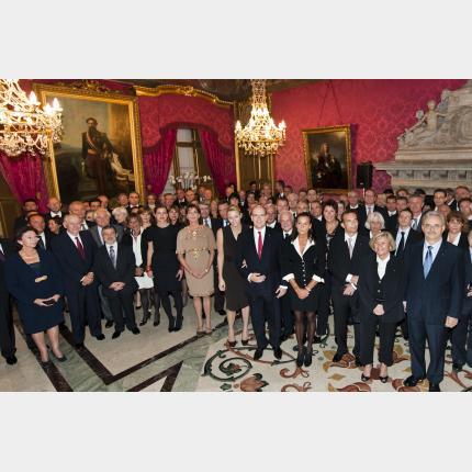 Remise de décorations Ordre de Saint Charles et Grimaldi