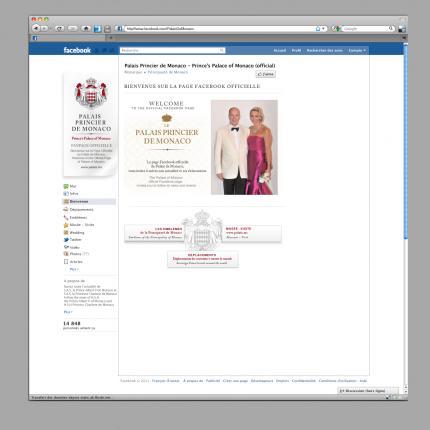 Ouverture de la page officielle du Palais Princier