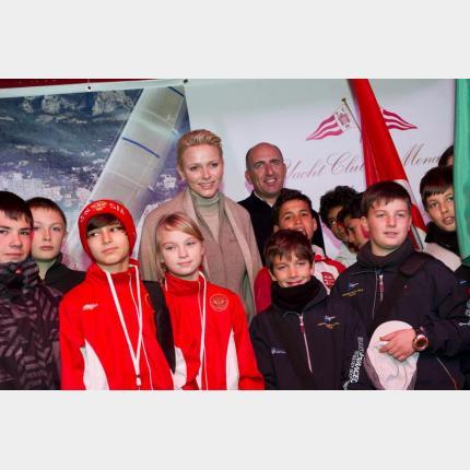 Coup d'envoi du Monaco Optimist Team Race en présence de S.A.S. la Princesse Charlène