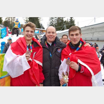 L'équipe monégasque de Bob à 2 remporte la Médaille de Bronze