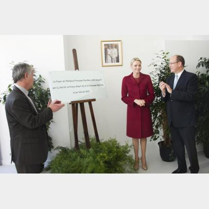 Inauguration du « Foyer de l'Enfance Princesse Charlène