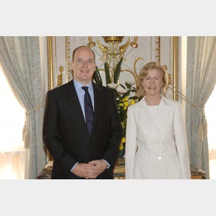 Remise des Lettres de créance de S.E. Mme Anne Anderson Ambassadeur de la République d' Irlande auprès de la Principauté de Monaco