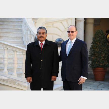 Visite de travail de S.E. M. Johnson TORIBIONG, Président de la République des PALAOS