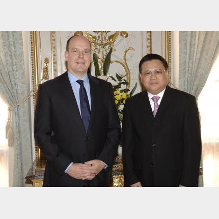 Remise des Lettres de créance de S.E. M Thana Duangratana Ambassadeur du Royaume de Thaïlande auprès de la Principauté de Monaco