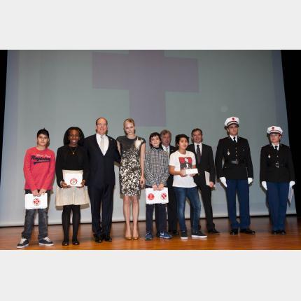 Remise annuelle des diplômes de la Croix-Rouge monégasque