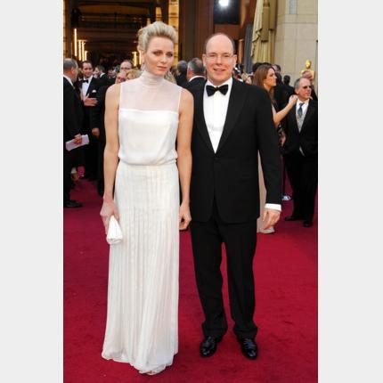 LL.AA.SS le Prince et la Princesse de Monaco ont assisté à la cérémonie des Oscars à Los Angeles