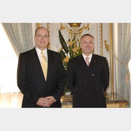 Remise des Lettres de créance de S.E. Monsieur Pierre-Dominique Schmidt, Ambassadeur de Belgique auprès de la Principauté de Monaco