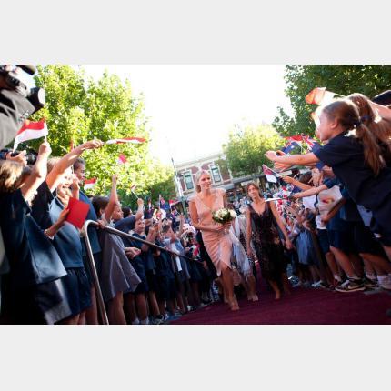 Inauguration  de l'exposition consacrée à la Princesse Grace « Grace Kelly, style icon » par S.A.S. la Princesse Charlène