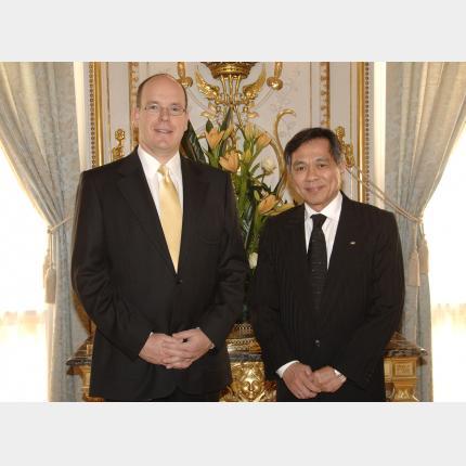 Remise des Lettres de créance de S.E. Monsieur Jose Abeto Zaide, Ambassadeur des Philippines auprès de la Principauté de Monaco