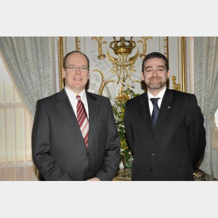 Remise des Lettres de créance de S.E. Monsieur Eric CALCAGNO Y MAILLMANN, Ambassadeur extraordinaire et plénipotentiaire de l'Argentine auprès de la Principauté de Monaco