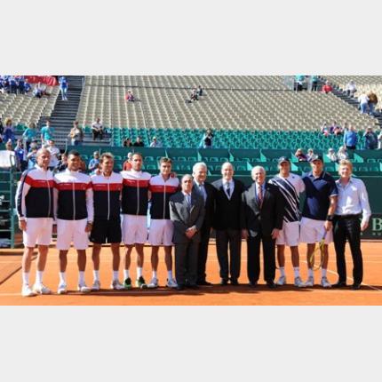 Quart de finale de la Coupe Davis entre la France et les Etats-Unis