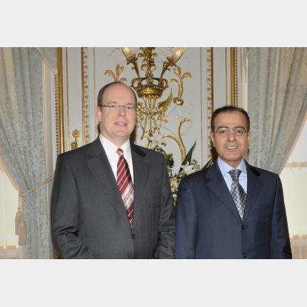 Remise des Lettres de créance de S.E. M Mohamed Jaham AL KUWARI , Ambassadeur extraordinaire et...