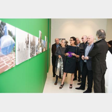S.A.R. la Princesse de Hanovre a visité la nouvelle exposition  Groupe Signe 1971-1974  L'Art de...